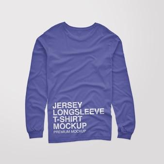 Jersey longsleeve back tshirt mockup