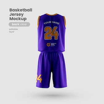Jersey mockup for basketball club back view