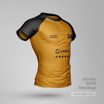 Jersey t shirt mockup front side view