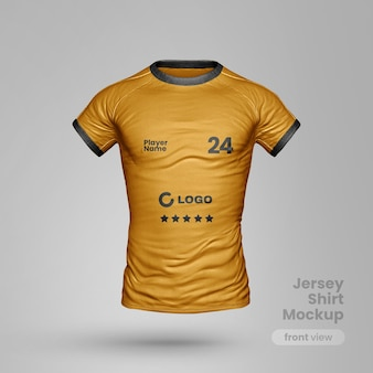 Jersey t shirt mockup front  view