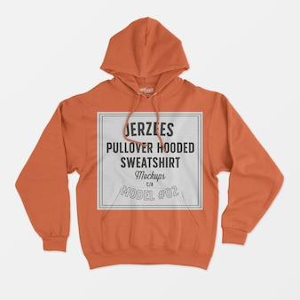 Jerzees pullover hooded sweatshirt mockup