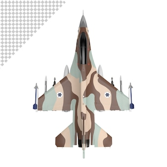 Jet plane military isolated