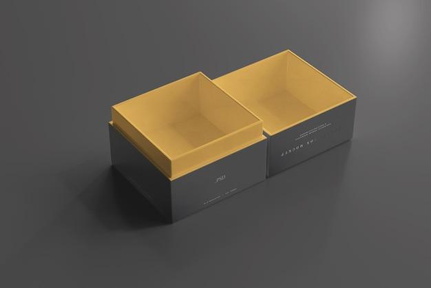 Mockup di gioielli o scatole regalo