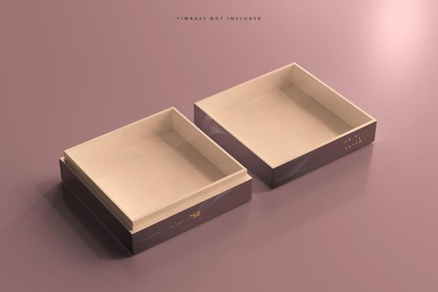 Jewelry or gift box mockup