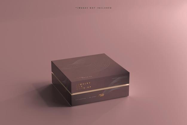 Мокап ювелирных изделий или подарочной коробки