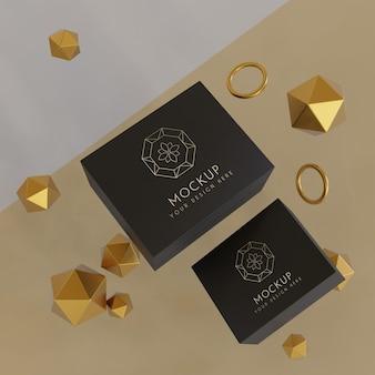 Макет упаковки ювелирных изделий