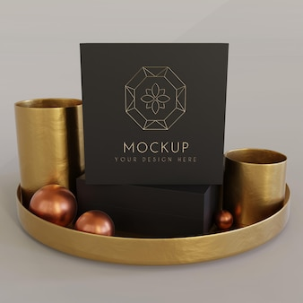 Jewelry packaging display mock up