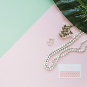 Jewelry and packaging mockup