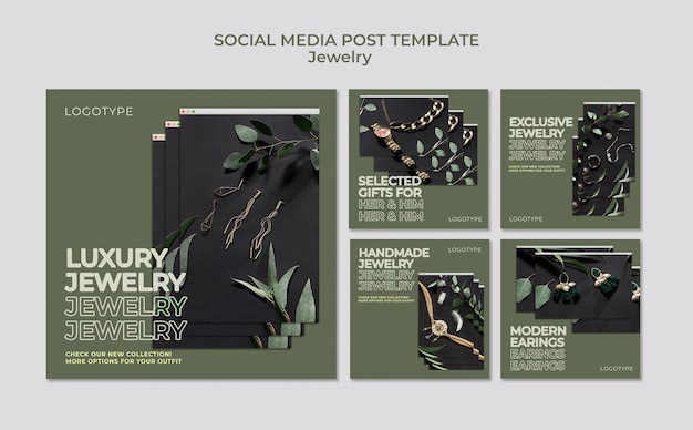 Jewelry store social media post template