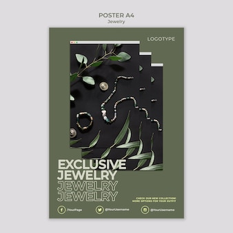 Jewelry store template poster