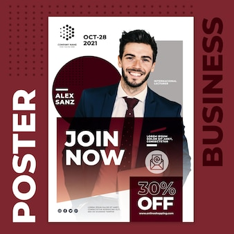Join now business poster template