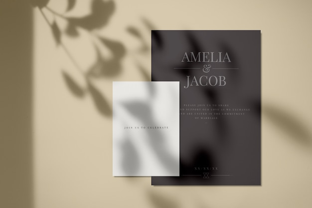 Join us to celebrate invitation card mockup