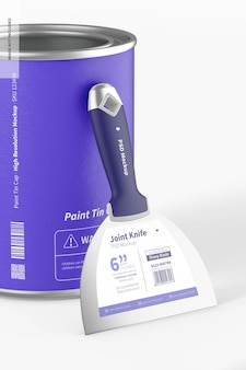 Coltello comune con vernice può mockup