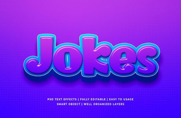 Jokes cartoon 3d text style effect