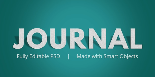 Journal text style effect