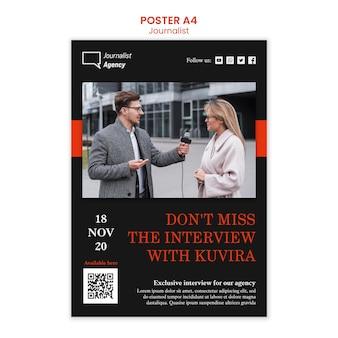 Journalist concept poster template