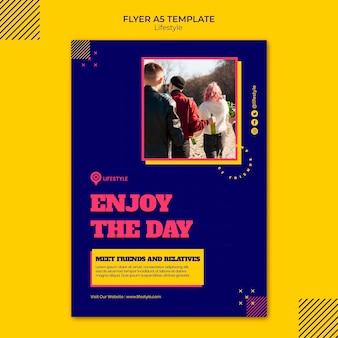 Joyful lifestyle flyer template