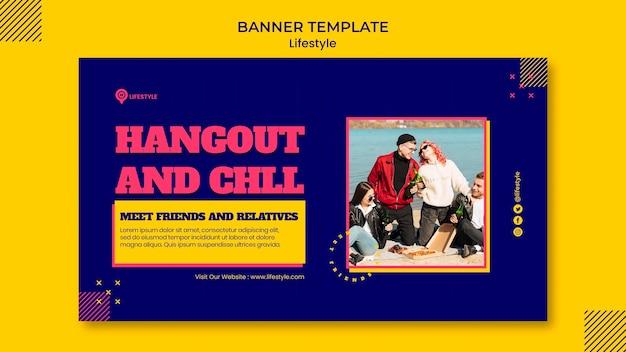 Joyful lifestyle horizontal banner template