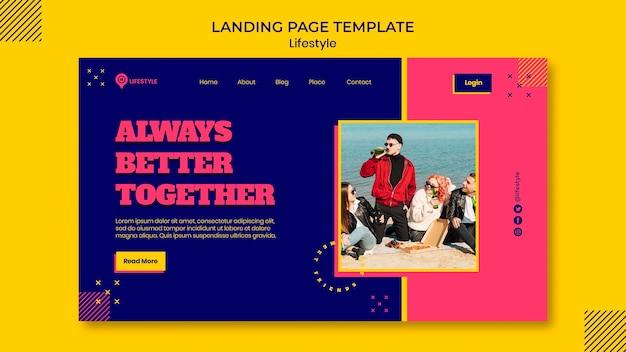 Joyful lifestyle landing page template