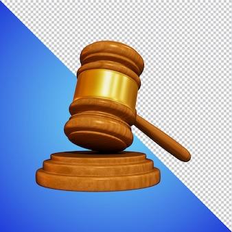 裁判官ハンマー3dレンダリングが分離されました