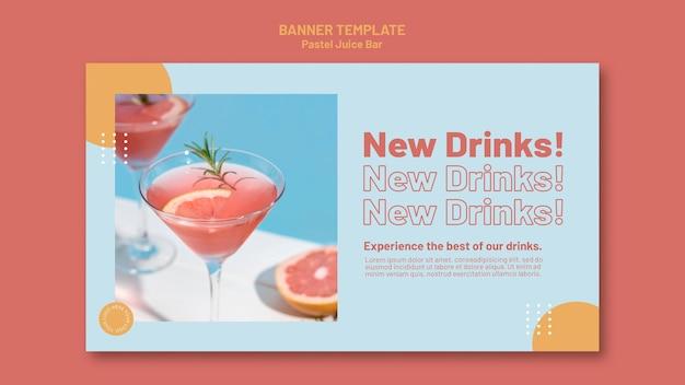 Juice bar banner template