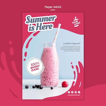 Juice bar flyer template