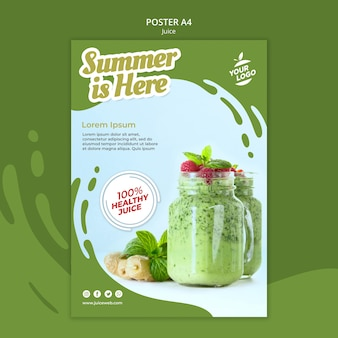 Juice bar poster template