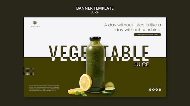 Juice bottle banner template