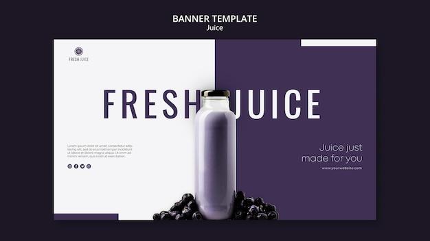 Modello di banner bottiglia di succo