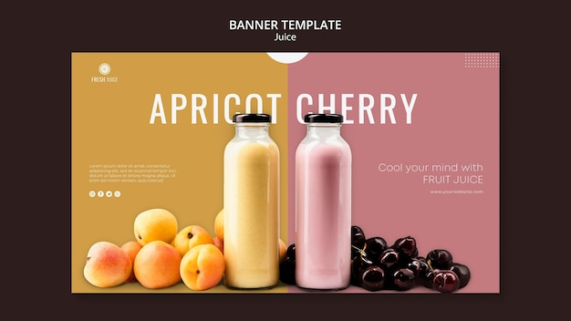 Juice bottle banner template