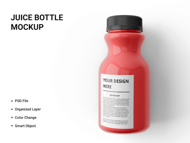 Juice bottle mockup design