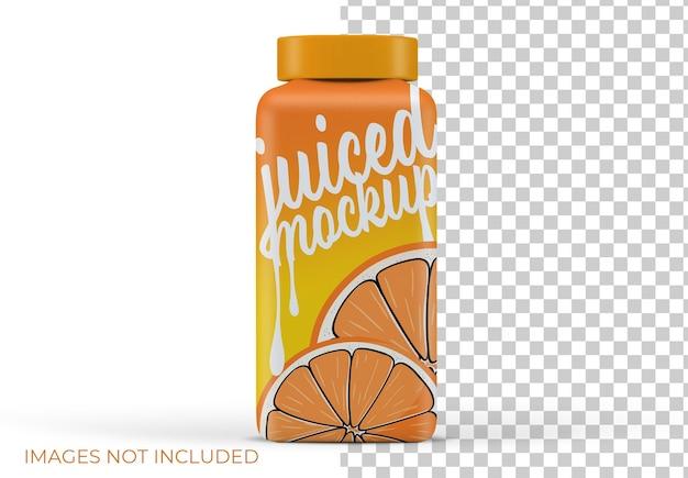 Изолированный макет бутылки сока