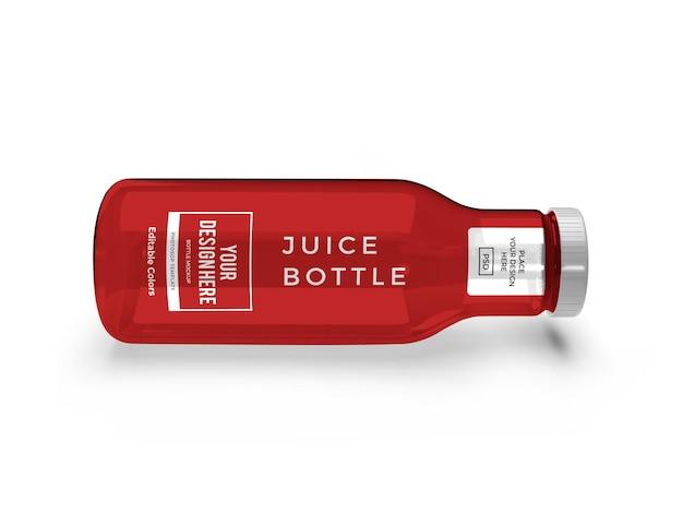分離されたジュースボトルモックアップテンプレート