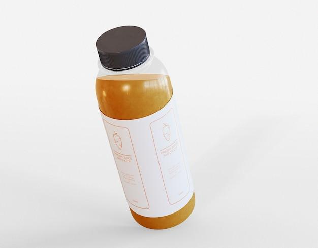 Мокап бутылки сока