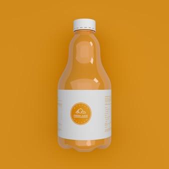 Макет бутылки сока