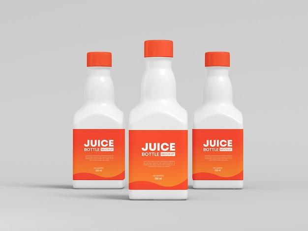 Mockup di imballaggio per bottiglie di succo