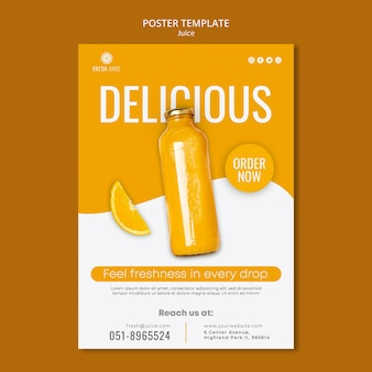 Juice bottle poster template