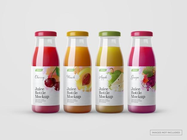 Juice bottles mockups