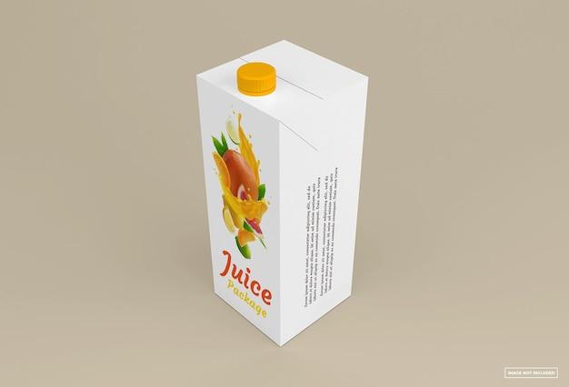 Juice box mockup isolated design