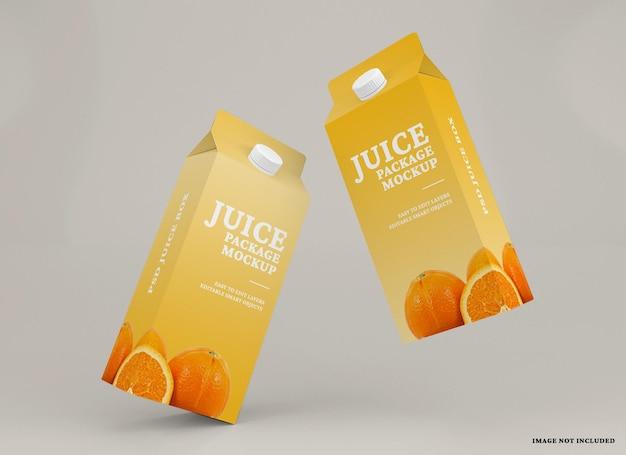 Juice box packaging mockup