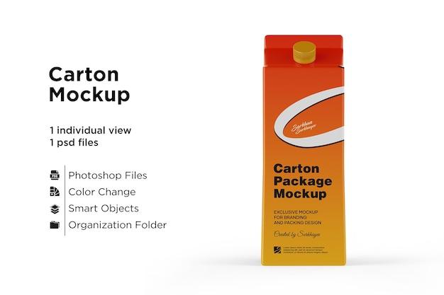 Мокап картонной упаковки сока