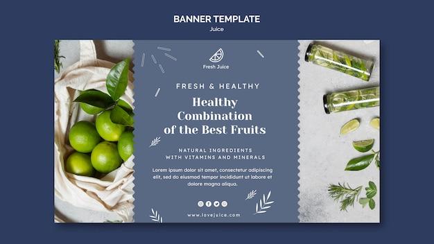 Juice concept banner template