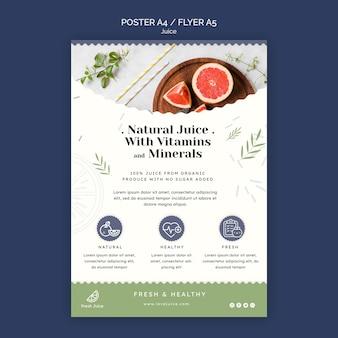Juice concept flyer template