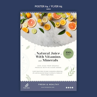 Juice concept poster template