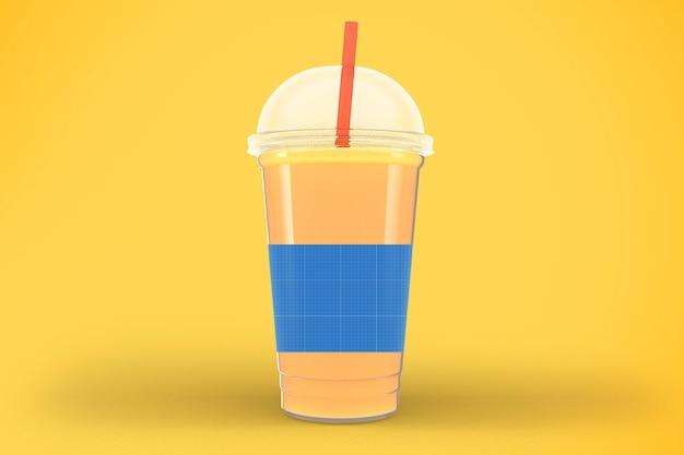 ジュースカップのモックアップ