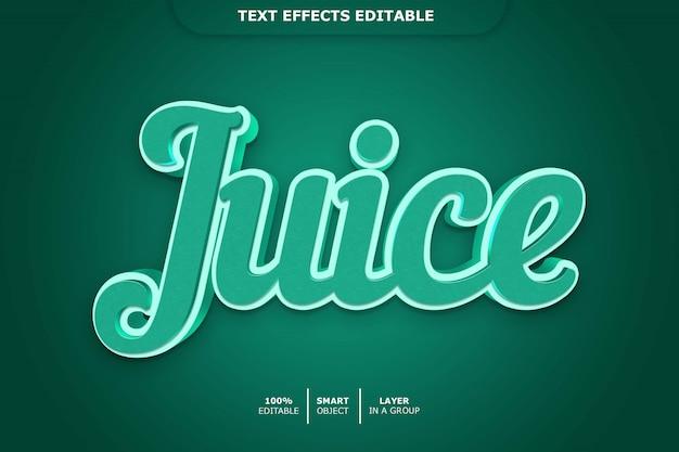 Сок редактируемый эффект шрифта