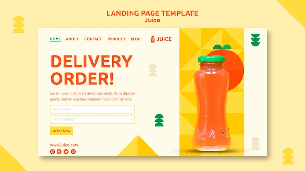 Juice landing page web template