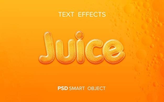 Текстовый эффект жидкого сока