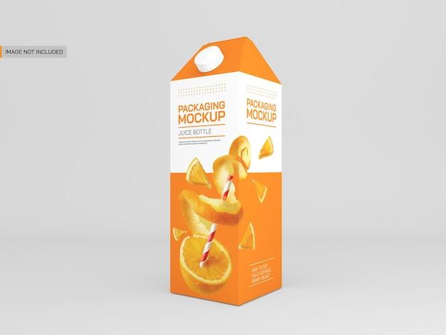 Макет упаковки сока