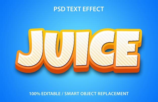 Текстовый эффект сока
